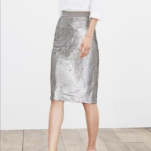 Banana Republic Sequin Pencil Skirt